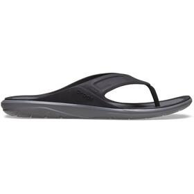 Crocs Swiftwater Wave Sandalias de Piel Hombre, black/slate grey